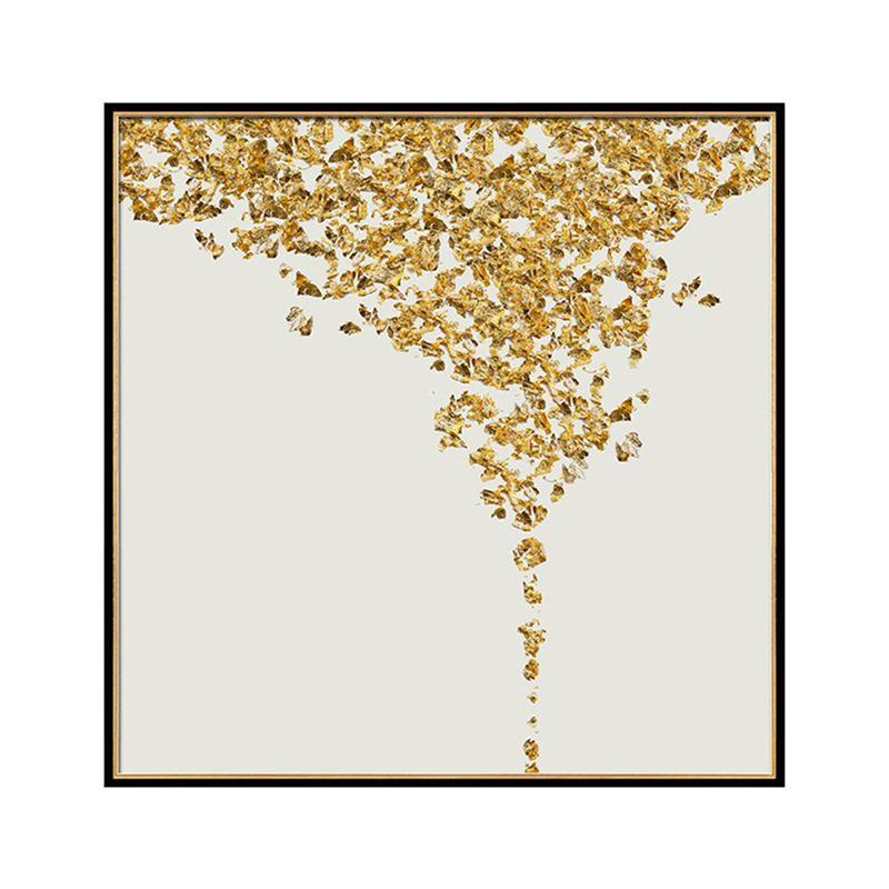 现代简约客厅装饰画抽象ManBetX安卓卧室床头挂画  晶瓷画 金色年华