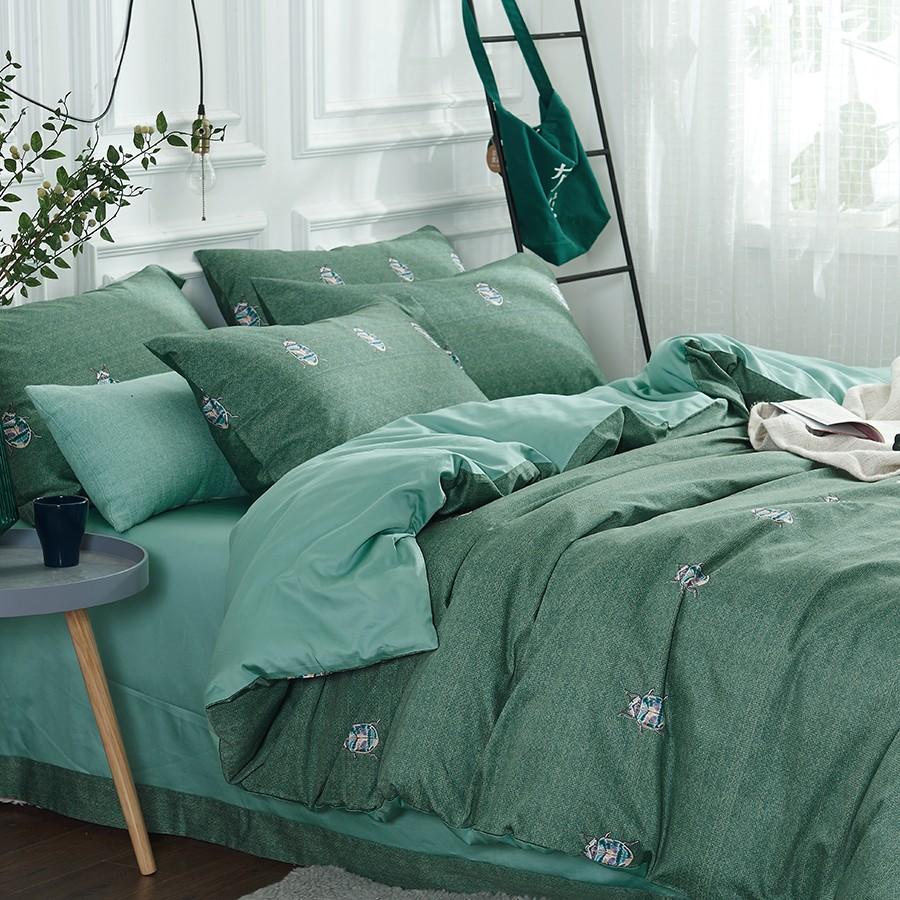 床上用品 纯棉四件套 蕾丝工艺 60贡缎长绒棉系列 挪威森林