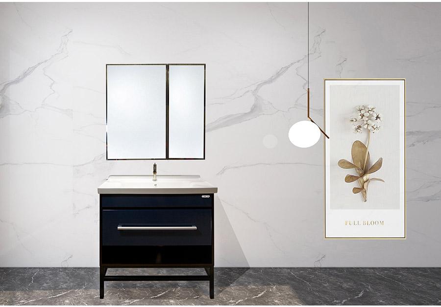 落地式陶瓷浴室柜,现代简约实木浴室柜,GOHGOH浴室柜